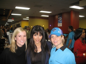 Laurn Hotard (Travers fiancee) and Tisbee Dantin posing with Kim Kardashian