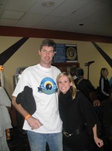 Hornets forward Ryan Bowen & Lauren Hotard