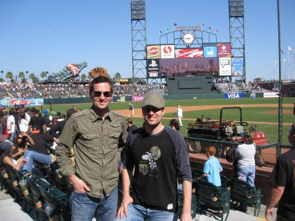 Travers & Fletcher in AT&T park For The Giants/Dodgers Game